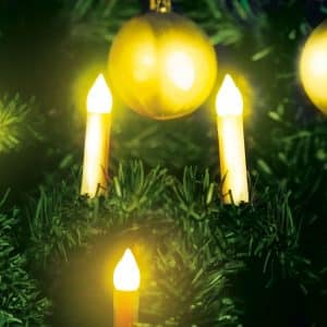 Božična LED dekoracija sveče - toplo bele - 10 LED - 2 x AA