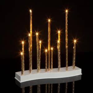 Božična LED dekoracija svečnik - 15 LED - toplo bela - 3 x AA