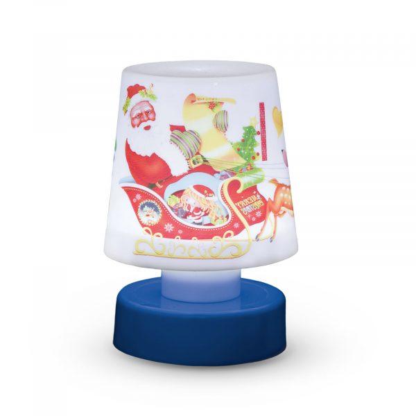Božična namizna svetilka z baterijami - modra podlaga