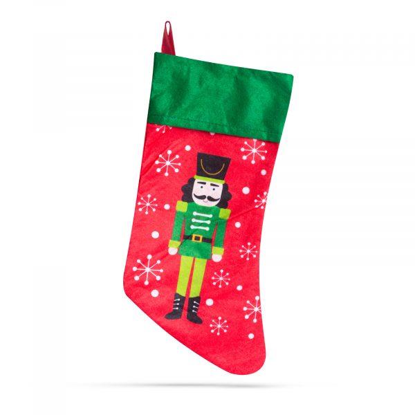 Božična nogavica z obešalnikom - več modelov - 43 x 22 cm