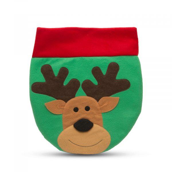 Božični dekor za straniščno školjko z vzorcem severnih jelenov