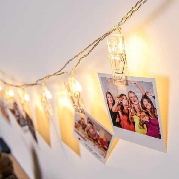 Božični LED dekor - sponke - 10 LED - toplo bele - 2 x AA