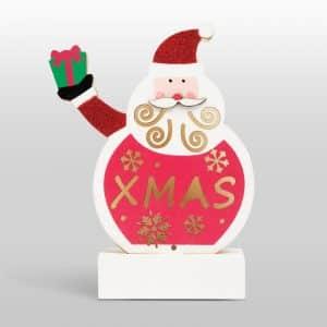 Božični LED dekor za mizo Les - božiček, 2 x AAA