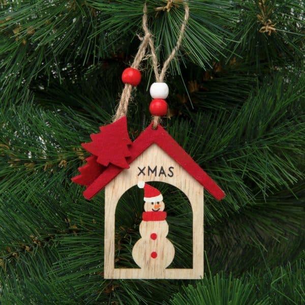 Božični okras - snežak - viseč - 17,5 x 7,5 cm