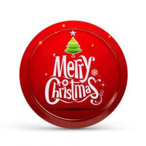 Božični pladenj - kovina - 31 cm
