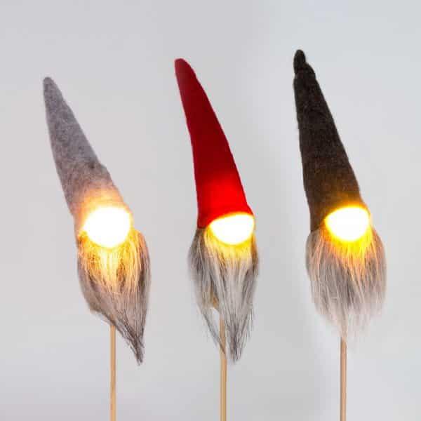 Božični skandinavski dekor gnome - LED - 25 cm - 3 vrste