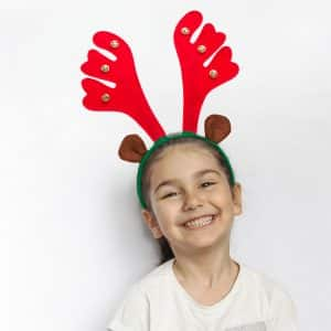 Božični trak za glavo - severni jelen