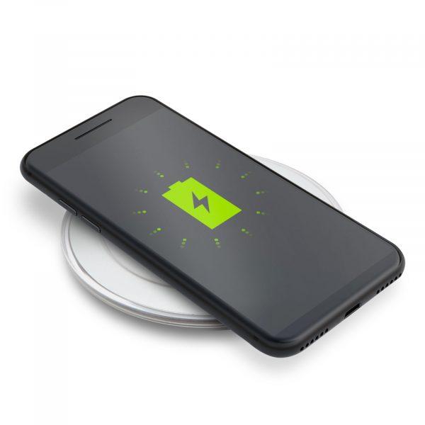 Brezžični polnilec za mobilne telefone črn
