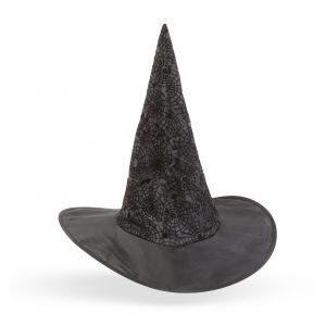 Čarovniška kapa za noč čarovnic - črna