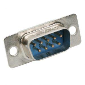 D-SUB vtič - 9 polni - 2 vrstici - primerna za spajkanje