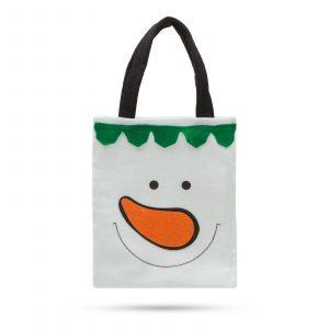 Darilna torba - snežak 24 x 20 cm