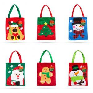Darilna vrečka tekstilna - več vzorcev 24 x 20 cm