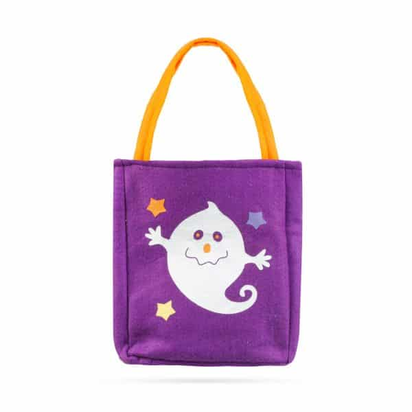 Darilna vrečka za noč čarovnic - tekstil, duh, 18 x 22 cm