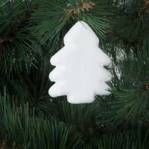 Dekoracija iz stiropora - božično drevo - 3 kosi / paket
