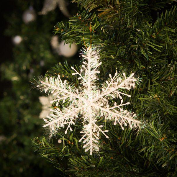 Dekoracija za božično drevo snežinke - bleščeče - 15 cm