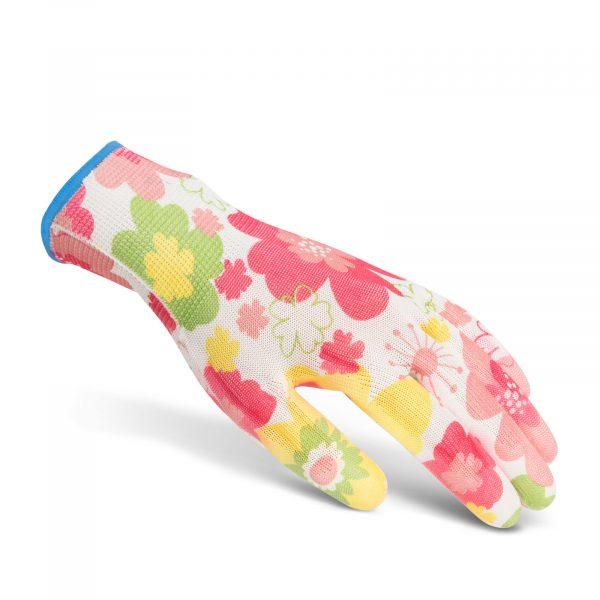 Delovne rokavice s cvetnim vzorcem -M
