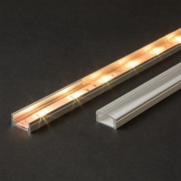 Difuzor za LED aluminijasti profil 41010A1 - prozoren - 1000 mm