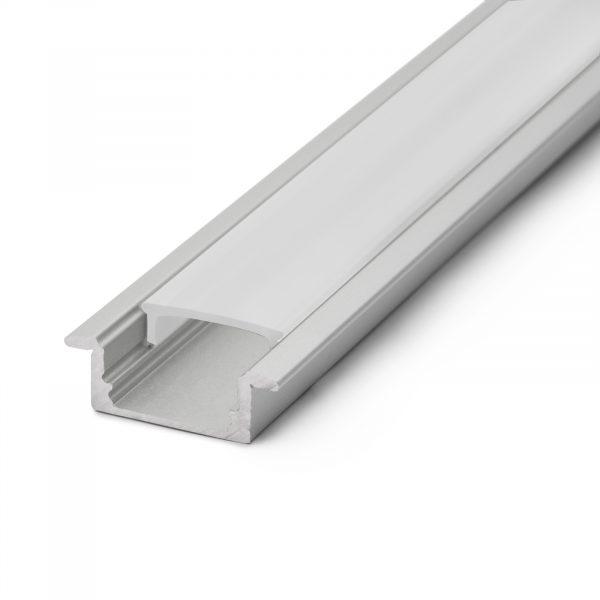 Difuzor za LED aluminijasti profil 41011A1 - Opal - 1000 mm