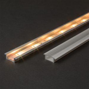 Difuzor za LED aluminijasti profil 41011A1 - prozoren - 1000 mm