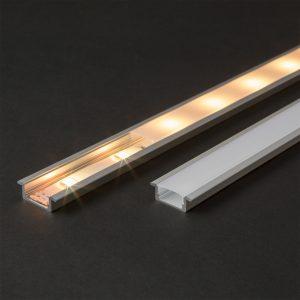 Difuzor za LED aluminijasti profil 41011A2 - Opal - 2000 mm