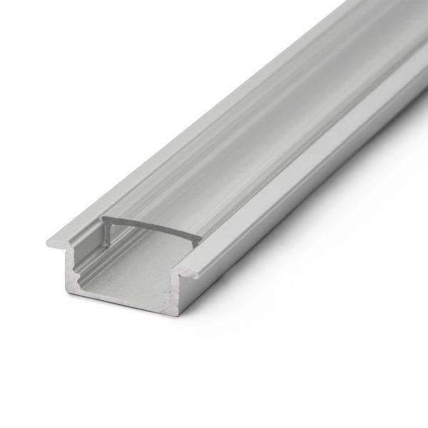 Difuzor za LED aluminijasti profil 41011A2 - prozoren - 2000 mm