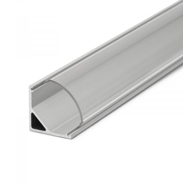 Difuzor za LED aluminijasti profil 41012A1 - prozoren - 1000 mm