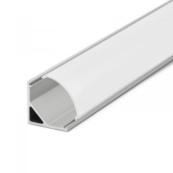 Difuzor za LED aluminijasti profil 41012A2 - Opal - 2000 mm