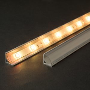 Difuzor za LED aluminijasti profil 41012A2 - prozoren - 2000 mm