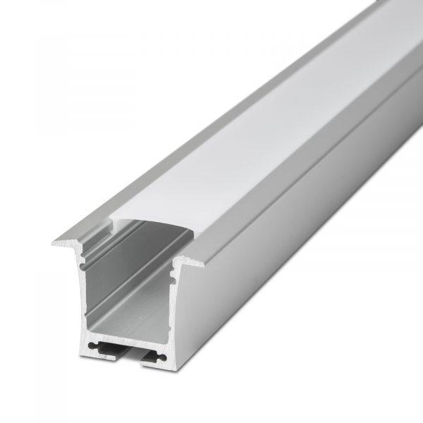 Difuzor za LED aluminijasti profil 41021A1 - Opal - 1000 mm