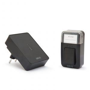 Digitalni brezžični zvonec KINETIC brez uporabe baterij črni