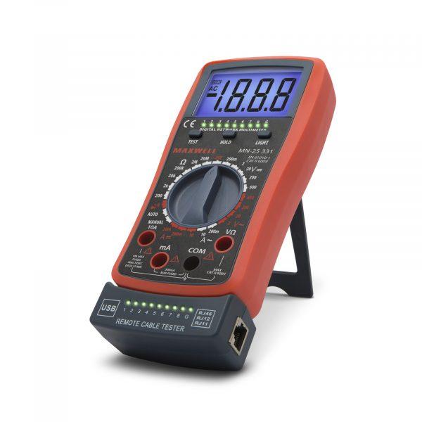 Digitalni multimeter Maxwell s kabelskim testerjem