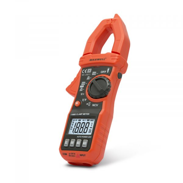 Digitalni multimeter Maxwell s kleščami True RMS