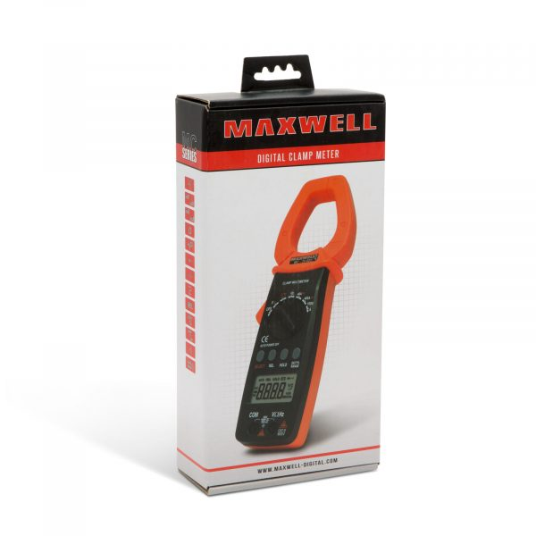 Digitalni multimeter Maxwell s kleščami z LCD zaslonom oranžen