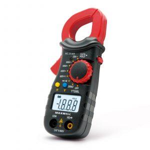 Digitalni multimeter Maxwell s kleščami z osvetljenim LCD rdeče črn