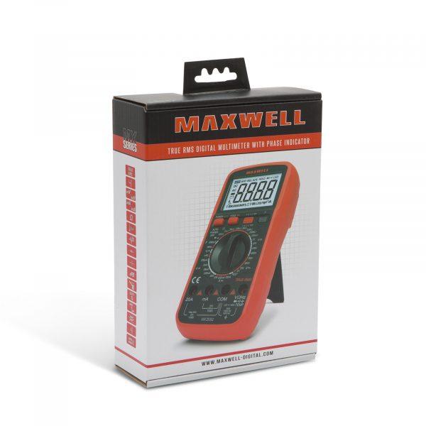 Digitalni multimeter Maxwell (TRUE RMS) s funkcijo zaznavanja kontaktnih faz