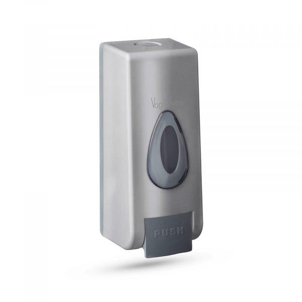 Dozirnik mila ali antibakterijskega sredstva - ročno upravljanje - 350 ml - stenski - srebrn