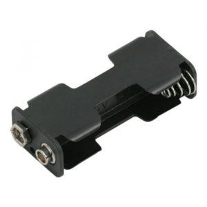 Držalo za baterije - 2 x AA - 9V priključek