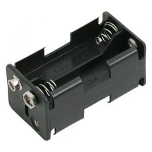 Držalo za baterije - 4 x AA - 9V priključek