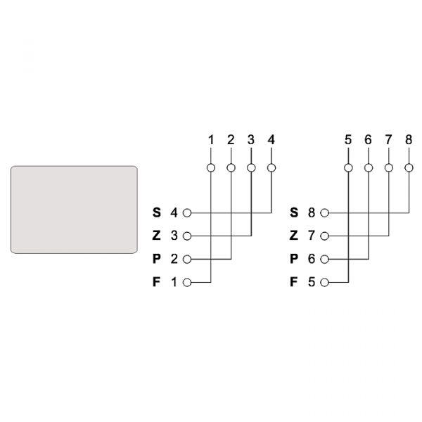 Dvojna stenska vtičnica - 6P4C