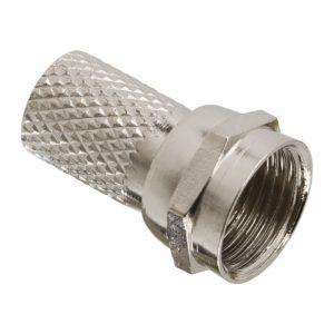 F vtič za kabel RG6 - vijak - premium
