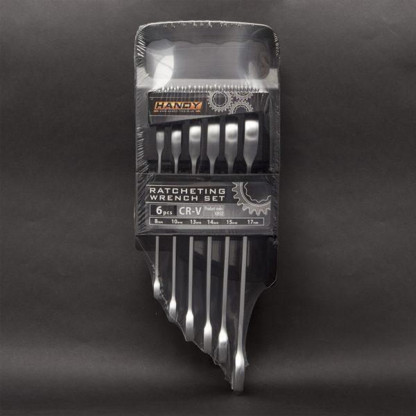 Garnitura viličasto obročnih ključev z ragljo - 8, 10, 13, 14, 15, 17 mm