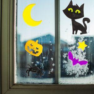 Gel okenska dekoracija - noč čarovnic, 12 kosov / paket