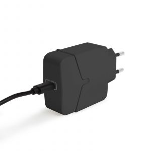 Hišni polnilnik za hitro polnjenje USB-C PD18W - črn