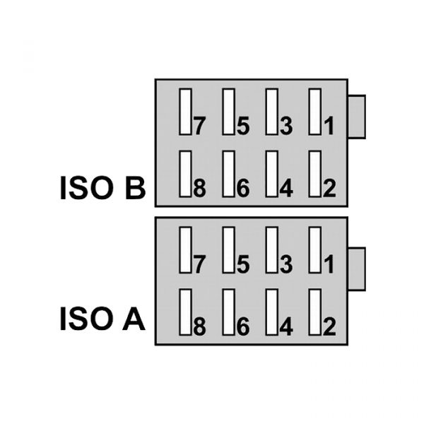 ISO konektor za priklop avtoradia moški