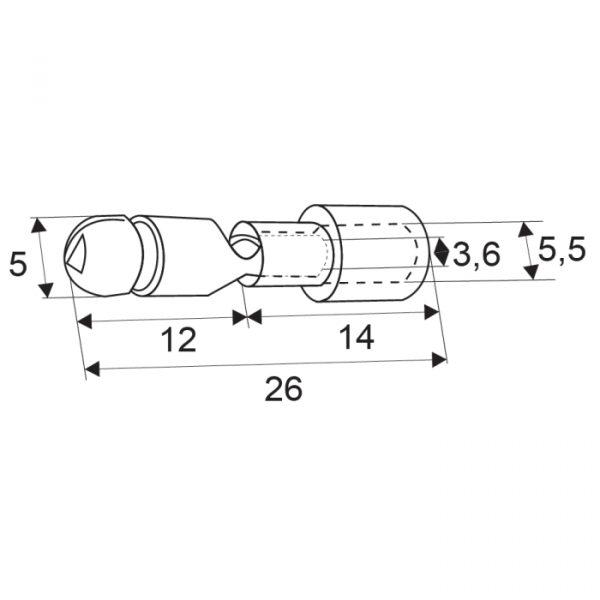 Izoliran priključek - okrogli tip - 5,0 / 3,6 mm