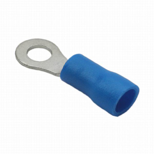 Izolirana priključek - obročni tip - 6,5 / 3,4 mm - moder