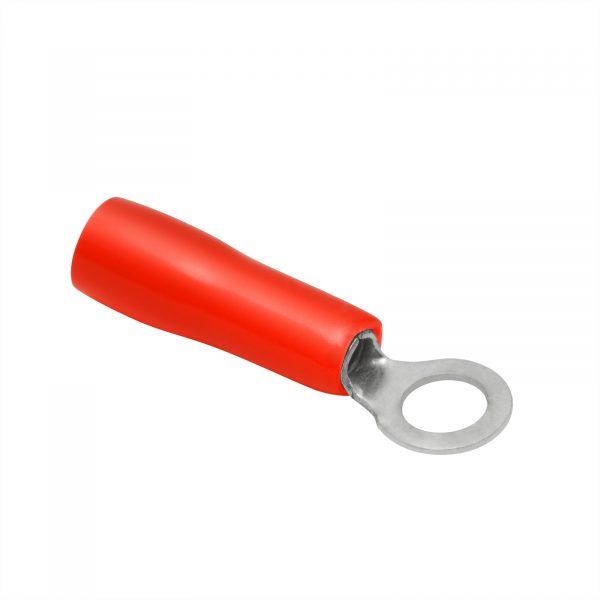 Izolirani priključek i- tip obroča - pozlačen - 4/2 mm - rdeč