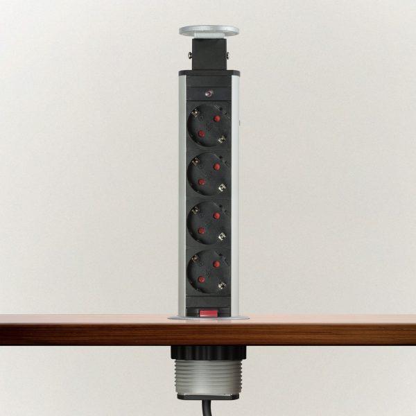 Izvlečni potopni razdelilec 4 x 250 V - brušen videz