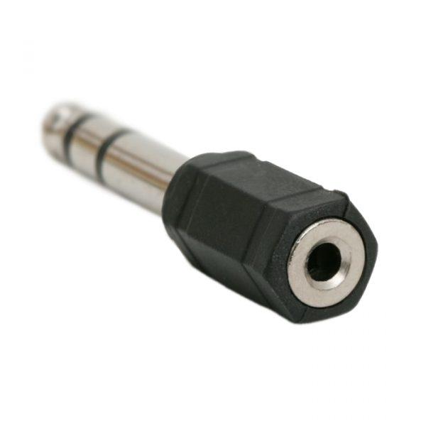 JACK adapter - 3.5 mm JACK vtičnica - 6.3 mm Vtič JACK - (stereo)
