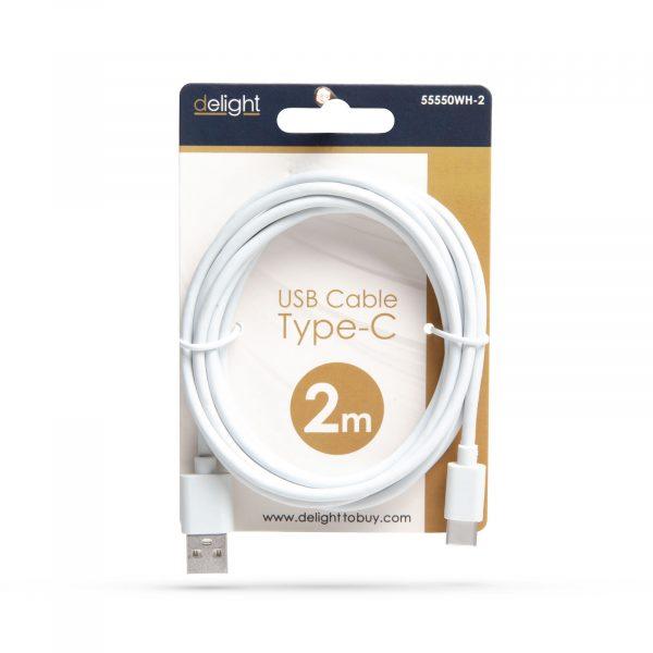 Kabel USB-C - beli - 2m